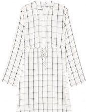 FIND Tie Waist Grid Print Vestito Donna, Multicolore (Ivory Mix), 52 (Taglia Produttore: XXX-Large)