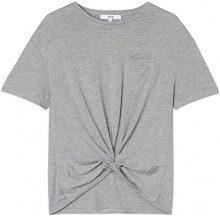 FIND T-Shirt con Nodo Donna, Grigio (Grey), 46 (Taglia Produttore: Large)