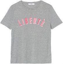 FIND T-Shirt con Stampa Libertè Donna, Grigio (Grey Marl), 42 (Taglia Produttore: Small)