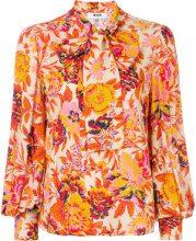 MSGM - Blusa con stampa a fiori - women - Spandex/Elastane/Viscose - 42, 44 - Giallo & arancio