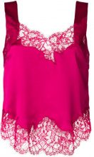 Givenchy - Top con ricami in pizzo - women - Silk/Cotton/Polyamide - 38 - PINK & PURPLE