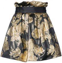 Faith Connexion - brocade mini skirt - women - Polyester/Metallized Polyester - S, M - Nero