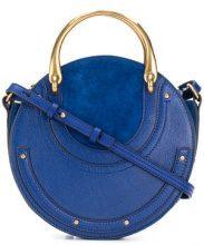 Chloé - Borsa Tote 'Pixie' - women - Calf Leather/Goat Skin - One Size - BLUE
