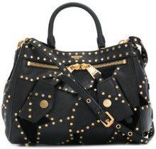 Moschino - Borsa tote con borchie - women - Leather - One Size - Nero