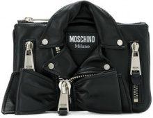 Moschino - Borsa Clutch biker - women - Leather - One Size - BLACK