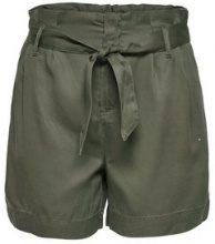 ONLY High Waist Shorts Women Green