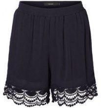 VERO MODA Crochet Shorts Women Blue