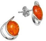 Nature d'Ambre 3130950RH - Orecchini da donna con ambra, argento