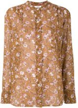 Isabel Marant Étoile - floral print blouse - women - Cotton - 40 - BROWN