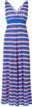 P.A.R.O.S.H. - long v-neck dress - women - Cotone/Polyester/Viscose - S - BLUE