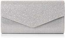 SwankySwans Montary busta pochette, strass, pochette, Argento (Silver (Silver)), Taglia unica