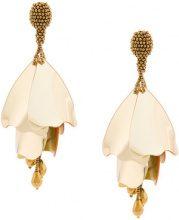 Oscar de la Renta - plastic tulip earring - women - Plastic/metal - OS - METALLIC