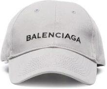 Balenciaga - Cappello da baseball con logo - women - Cotton - L - GREY