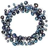 Valero Pearls Bracciale da Donna con Perle coltivate d'acqua dolce blu pavone 00120324