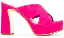 Sebastian - Sandali incrociati con plateau - women - Leather/Suede - 36, 37.5, 38, 38.5, 39 - PINK & PURPLE