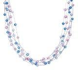Valero Pearls - Anello - Argento Sterling 925 (placcato nero) - Gioielli con perle e zircone - Gioielli da donna - in molti formati, Anello con zircone - 60925164