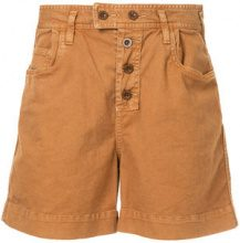 Hysteric Glamour - buttoned shorts - women - Cotton/Polyurethane - S, M - BROWN