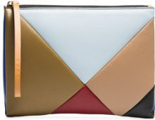 Marni - Multicoloured geometric leather pouch - women - Leather - One Size - MULTICOLOUR