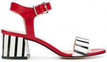 Marc Ellis - Sandali a righe color-block - women - Leather - 36, 37, 39 - RED