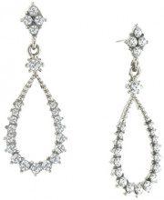 1928 Jewelry-Orecchini a goccia in argento sterling, con orecchini a goccia con cristallo