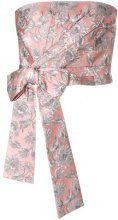 Prada - Top senza spalline - women - Silk/Cotton/Polyamide/Metallic Fibre - 40 - PINK & PURPLE