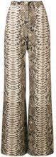 Elie Saab - Pantaloni pitonati - women - Polyester/Viscose - 40, 42, 44 - Color carne & neutri