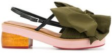 Marni - Sandali con fiocco - women - Cotone/Leather - 35, 37, 40, 41, 39 - GREEN