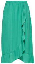ONLY Frill Midi Skirt Women Green