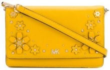 Michael Michael Kors - floral embellished crossbody - women - Leather - OS - YELLOW & ORANGE