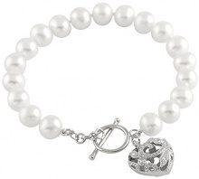 Bella Pearls FINENECKLACEBRACELETANKLET, argento, colore: bianco, cod. BSR-18W