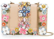 Gedebe - floral crossbody bag - women - Calf Leather - OS - NUDE & NEUTRALS