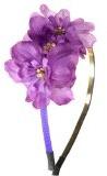 Cristallo lilla fiori fascia per capelli