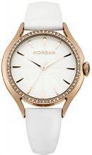 Morgan M1235WRG - Orologio da polso donna, pelle, colore: bianco