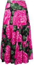 Valentino Vintage - roses print flared skirt - women - Cotone - 42 - PINK & PURPLE