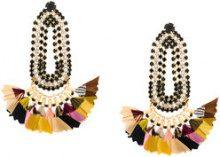 Gas Bijoux - Orecchini 'Trevise Feather' - women - 24kt Gold Plate/Feather - OS - Multicolore