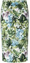 Pinko - Gonna con stampa floreale - women - Polyester/Spandex/Elastane - 40 - GREEN