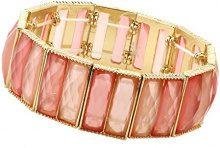 1928 Jewelry Gold-Braccialetto elastico con colore: arancione, lunghezza: 43 cm
