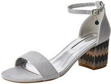 XTI 30702, Scarpe con Cinturino alla Caviglia Donna, Argento (Platinium), 37 EU
