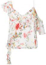 Alice+Olivia - Top a fiori - women - Silk/Polyester/Spandex/Elastane - S - WHITE
