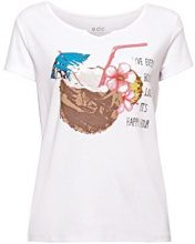 edc by Esprit 058cc1k035, T-Shirt Donna, Multicolore (White 100), X-Small