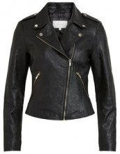 VILA Real Leather Jacket Women Black