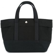 Cabas - small knitted style tote bag - women - Cotton - OS - BLACK