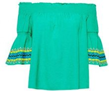 edc by Esprit 058cc1f018, Camicia Donna, Verde (Green 310), Small