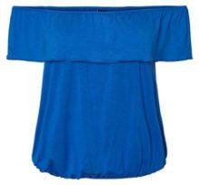VERO MODA Off Shoulder Short Sleeved Top Women Blue
