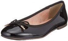 Tamaris 22123, Ballerine Donna, Nero (Black Patent), 41 EU