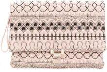 Red Valentino - Borsa clutch trapuntata - women - Cotone/Other fibres - OS - Rosa & viola