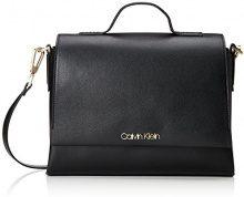 Calvin Klein Jeans Frame Top Handle Satchel - Borse a secchiello Donna, Nero (Black), 12x22x31 cm (B x H T)