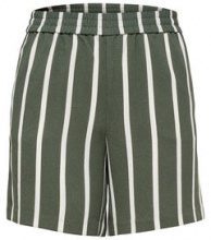 ONLY Striped Shorts Women Green