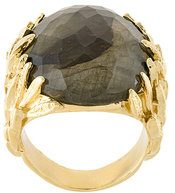 Wouters & Hendrix - My Favourite labradorite ring - women - Gold Plated Sterling Silver/Pietra - 54 - METALLIC