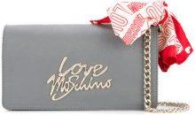 Love Moschino - Borsa a tracolla con dettaglio bandana - women - PVC - OS - GREY